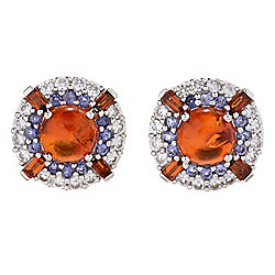 Victoria Wieck Amber & Multi Germstone Stud Earrings