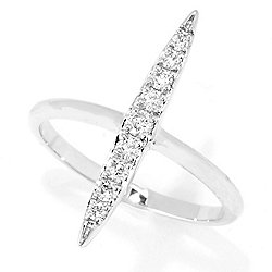 189-880 Gems of Distinction™ 14K Gold 0.23ctw Diamond North-South Fashion Ring - 189-880