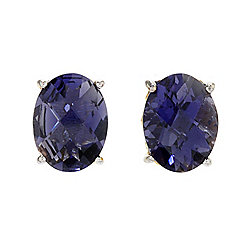 Gems en Vogue Final Cut 2.40ctw Checkerboard Cut Iolite Stud Earrings