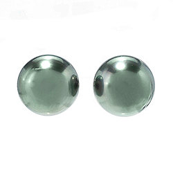 Kwan Collections Sterling Silver Cultured Tahitian Pearl Stud Earrings