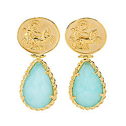 Tagliamonte 18K Gold Embraced™ Pear Cut Amazonite Chariot Earrings