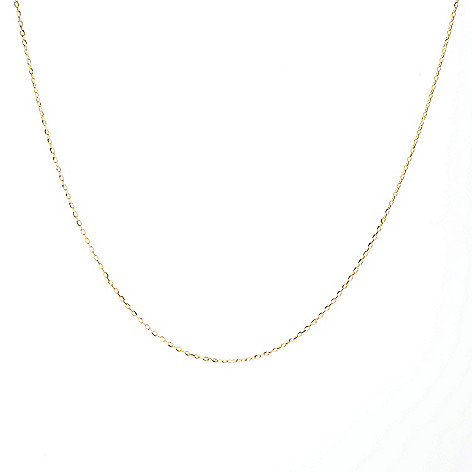 "Viale18K® Italian_Gold 17.75""_Forzatina Chain_Necklace, 1.5_grams"