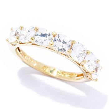 Simulated Diamonds Sparkle Starts at $15 190-806 Victoria Wieck for Brilliante® Asscher Cut Simulated Diamond Eternity Band Ring - 190-806