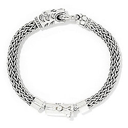 Artisan Silver by Samuel B. Tulang Naga Oxidized Animal Bracelet, 59 grams