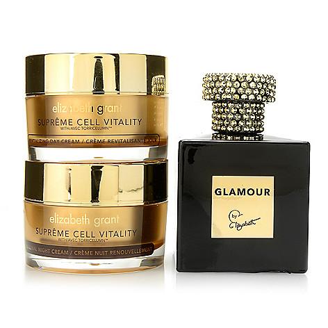 Elizabeth Grant Day Night Cream Duo W Eau De Parfum In Glamour