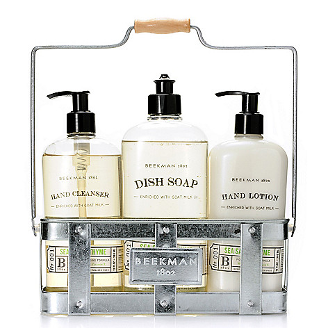 Beekman 1802 Three-Piece Hand Lotion, Dish Soap & Hand Cleanser ...