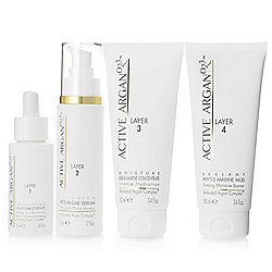 Active Argan 4-Piece Layered Five-Minute Complete Facial Treatment System