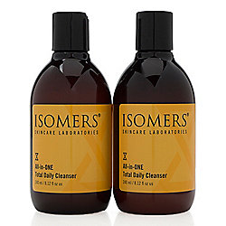 ISOMERS Skincare All-in-One Total Daily Cleanser Duo 8.12 oz Each