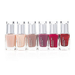 Leighton Denny 6-Piece Nail Polish Color Collection w/ Cosmetic Case