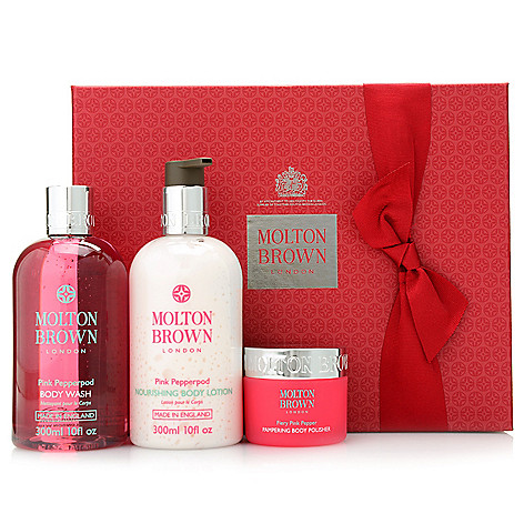 ecccfdfaf2dd 314-919- Molton Brown 3-Piece Pink Pepperpod Pampering Body Gift Set