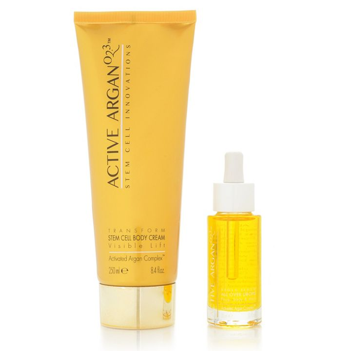 Active Argan Anti-Age Gracefully - 315-442 Active Argan Plant Stem Cell Body Cream & All Over Oil Drops (Choice of Scent)