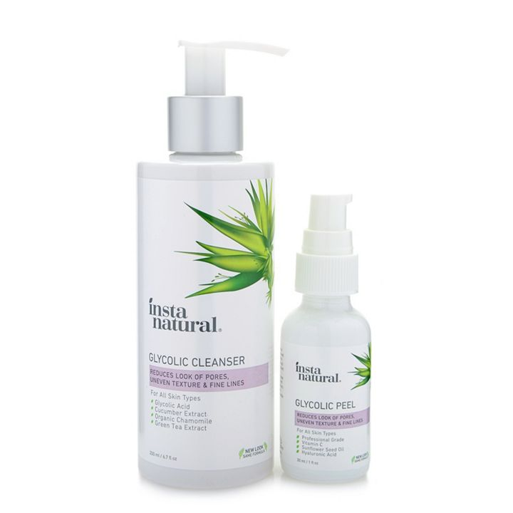UP TO 50% OFF Naturally Beautiful With Danny Seo - 315-687 InstaNatural Glycolic Cleanser 6.7 oz & Peel 1 oz Duo