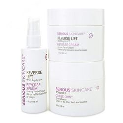 Weekly Deals 316-226 Serious Skincare 3-Piece 4x Size Reverse Lift Super Size Serum, Cream & Correc-Chin Kit - 316-226