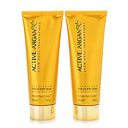 Active Argan Plant Stem Cell Visible Lift Body Cream Duo 8.4 oz Each