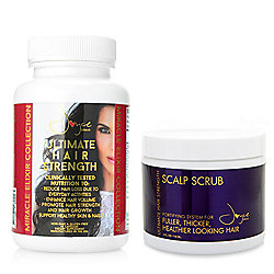 Joyce Giraud Ultimate Hair Strength Supplements w/ Bonus Scalp Scrub