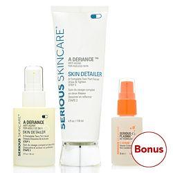 Morning Routine 316-764 Serious Skincare Skin Detailer 2-Part Facial Peel w Bonus Item - 316-764