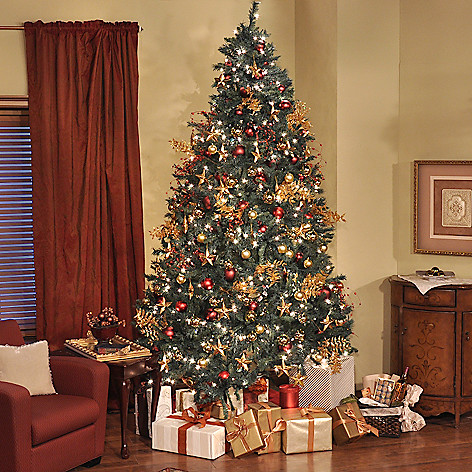 Thomas Pacconi Classics 9' Pre-lit Revolving Artificial Christmas Tree -  EVINE - Thomas Pacconi Classics 9' Pre-lit Revolving Artificial Christmas