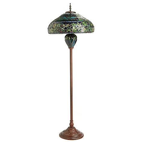 with liaison chloe shade style victorian torchiere floor lighting lamp light lamps ip tiffany