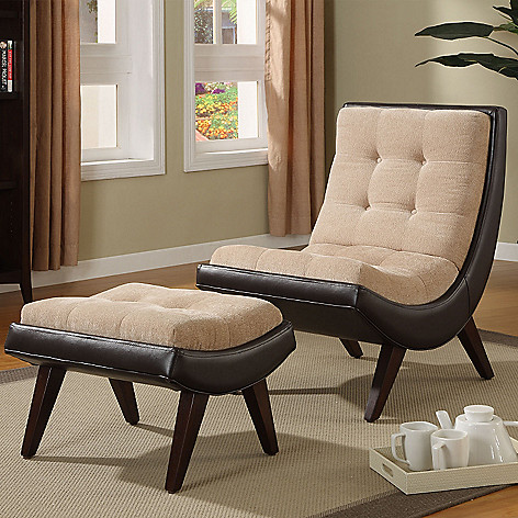 Strange Brown Velvet Faux Leather Chair Ottoman Beatyapartments Chair Design Images Beatyapartmentscom