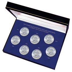 Coin Collecting 422-087 Complete Eisenhower Dollar Collection - 422-087