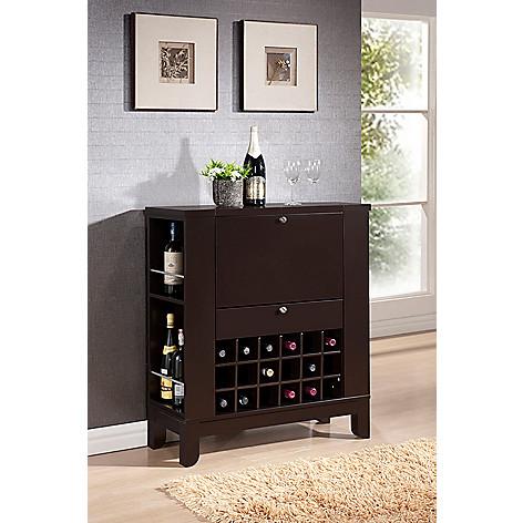 423 110 Baxton Studio Modesto Brown Modern Dry Bar Wine Cabinet