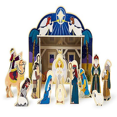 Melissa Doug Wooden Nativity Play Set On Sale At Shophq Com