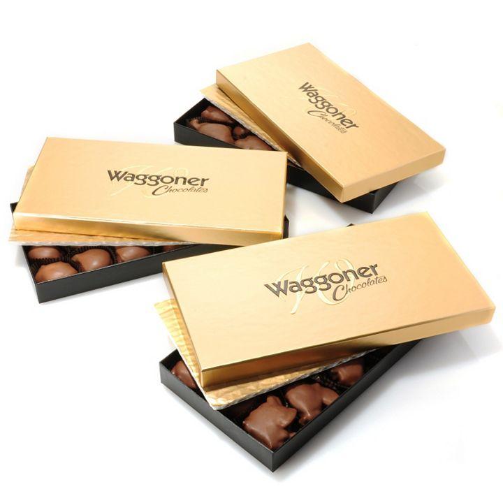 Waggoner Chocolates - 441-324 Waggoner Chocolates Set of 3 (1 lb) Choice of Dark or Milk Chocolate Caramel Dainties