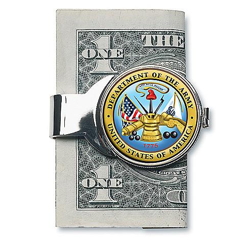 JFK Half Dollar Silver-Toned Money Clip