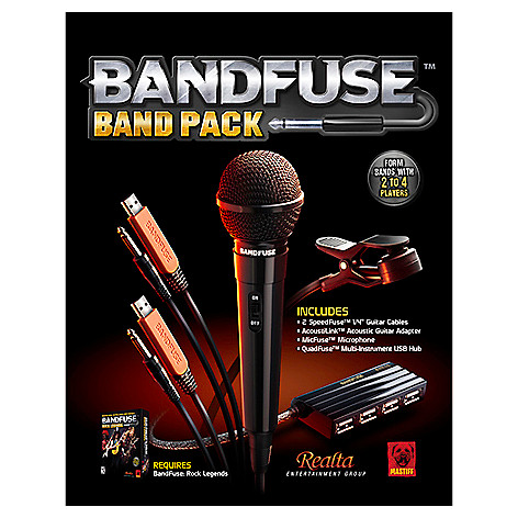 BandFuse: Rock Legends Band Pack for XB360 & PS3 - EVINE on