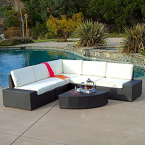 Christopher Knight Home Santa Cruz Outdoor Grey Wicker Sofa Set on sale at