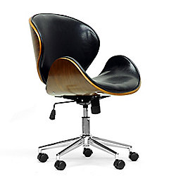 Baxton Studio Bruce Walnut & Black Modern Office Chair - 444-877
