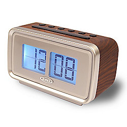 Jensen AM / FM Dual Alarm Clock w/ Retro Flip-Style Display