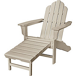 "Hanover Outdoor Furniture 37.5"" All-Weather Contoured Adirondack Chair w/ Hideaway Ottoman"