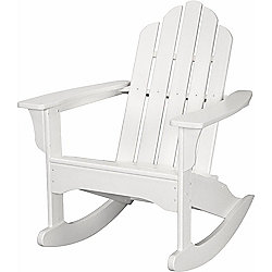 "Hanover Outdoor Furniture 37.75"" All-Weather Contoured Adirondack Rocking Chair"