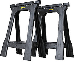 "Stanley 30"" Set of Two Folding Sawhorses"