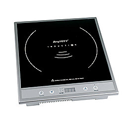 BergHOFF 1600W Tronic Silver Induction Cooktop Stove w/ Auto Shut-off