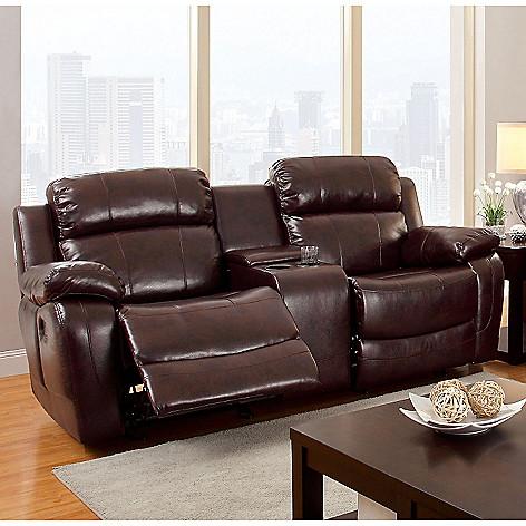 Miraculous Furniture Of America Vickers Faux Leather Love Seat Sofa Creativecarmelina Interior Chair Design Creativecarmelinacom