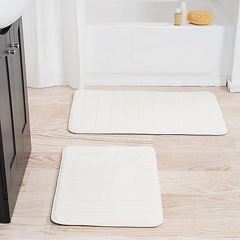 Memory Foam Bathroom Set | Lavish Home 2 Piece Memory Foam Bath Mat Set Evine