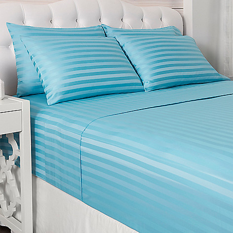 460 628 North S Living 600tc Cotton Poly Blend Damask Stripe 6