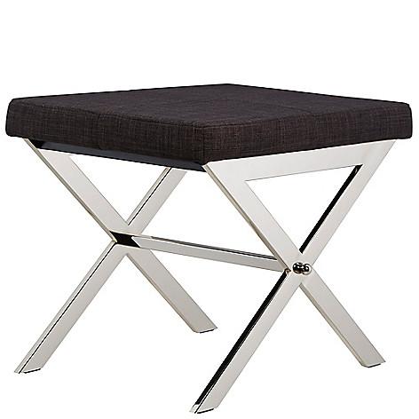 Cool Homebasica 18 Viola Chrome Metal Vanity Stool Creativecarmelina Interior Chair Design Creativecarmelinacom