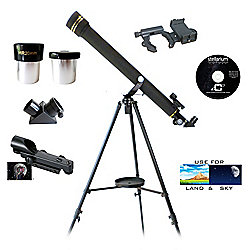 Cassini 700mm x 60mm Refractor Telescope w/ Smartphone Photo Adapter Kit & Accessories