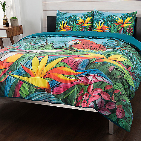 Chka At Home Tropical Bliss 100 Cotton 3 Piece Comforter Set Evine