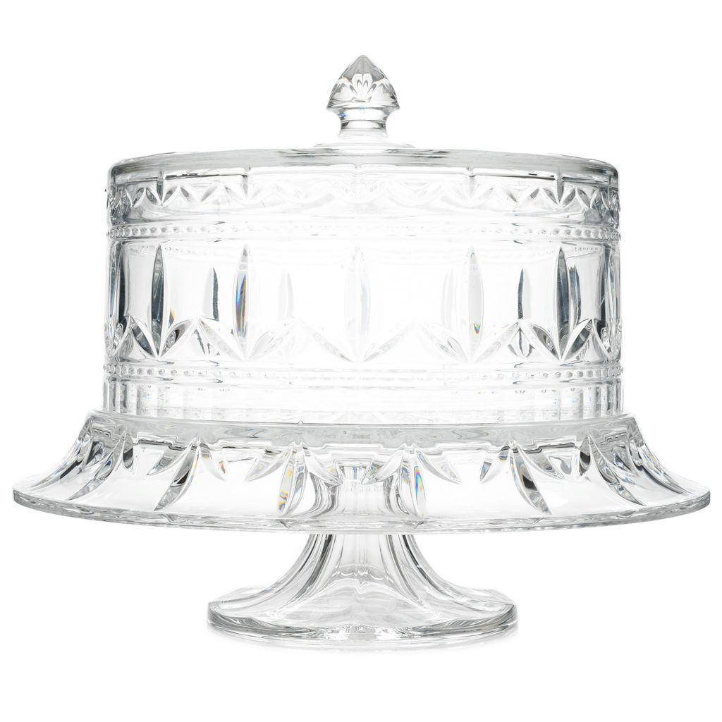 463-058- Marquis by Waterford Finley Multi Use Fan \u0026 Wedge Cut Crystal Cake  sc 1 st  Evine & Marquis by Waterford Finley Multi Use Fan \u0026 Wedge Cut Crystal Cake Stand