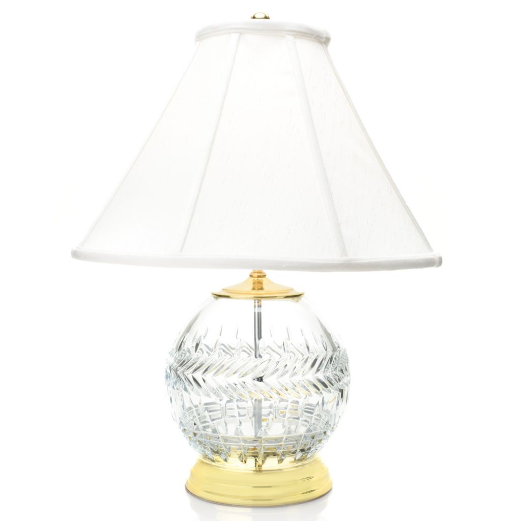 Waterford Crystal 23 Meg Rose Bowl Table Lamp W Silk Coolie Shade