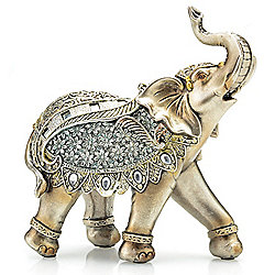 "Style at Home with Margie 7.5"" Ecstatic Elephant Accent Figurine"