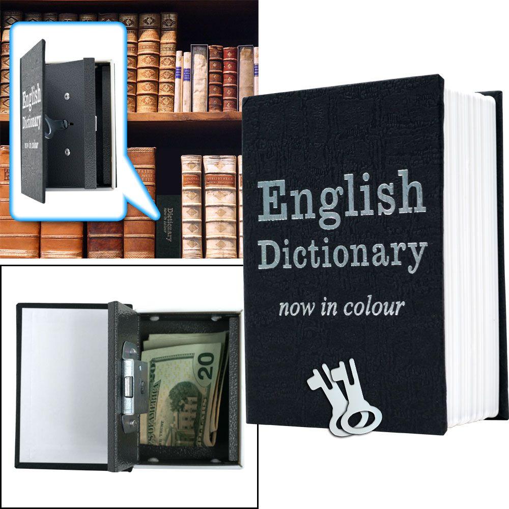 Dictionary Diversion Book Safe w/ Key Lock