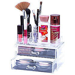 Lavish Home 2-Piece Jewelry & Cosmetic Organizer Set