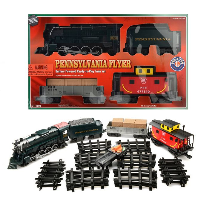 Lionel Trains Your One-Way Ticket to Fun at ShopHQ | 464-884 Lionel Trains Pennsylvania Flyer Freight Ready-to-Play Large Gauge Train Set