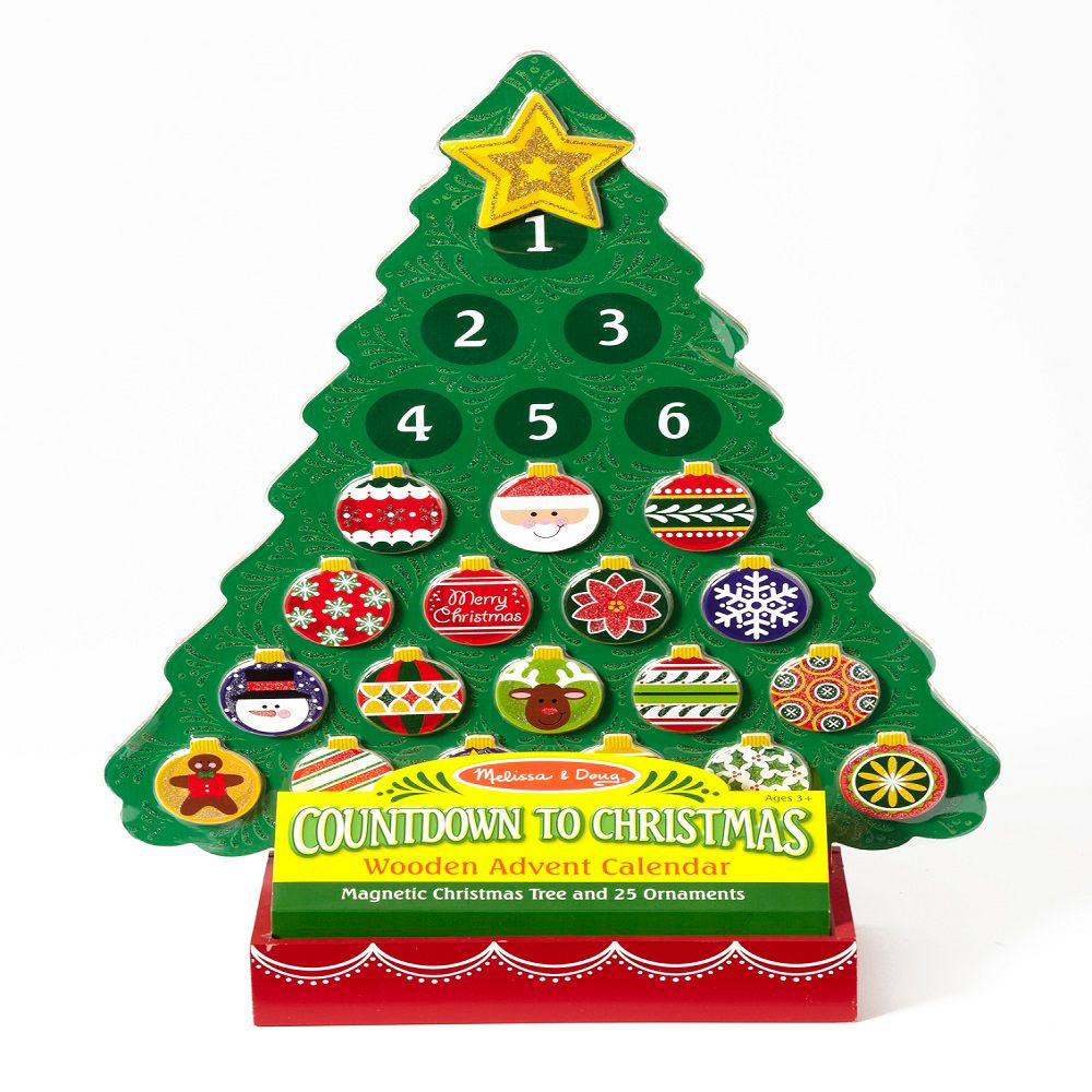 Christmas Countdown Calendar.Melissa Doug Wooden Countdown To Christmas Advent Calendar