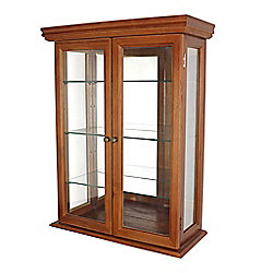 "Design Toscano 26"" Country Tuscan Wall Curio Cabinet"